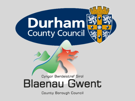 Durham and Gwent Council logos
